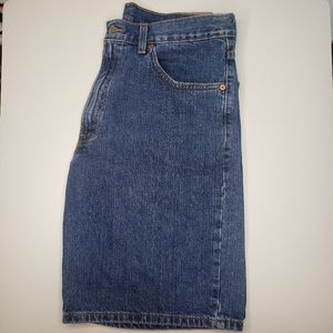 Men's LEVI'S 550 relaxed fit jean shorts. 34